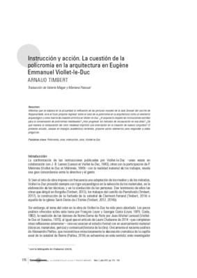 Instrucción y acción. La cuestión de la policromía en la arquitectura en Eugène Emmanuel Viollet-le-Duc