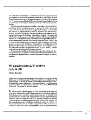 Mi pasado secreto. El archivo de la KGB