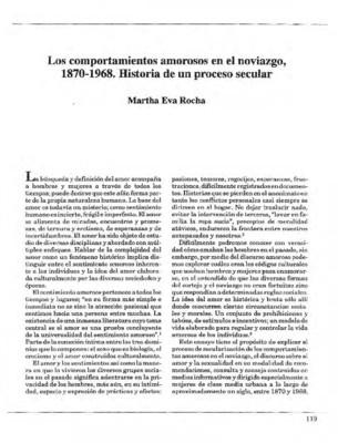 Los comportamientos amorosos en el noviazgo, 1870-1968. Historia de un proceso secular