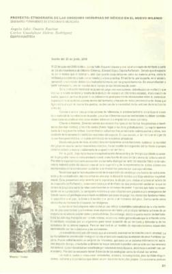 Proyecto: Etnografía de las Regiones Indígenas de México en el Nuevo Milenio. Seminario Permanente de Etnología Mexicana