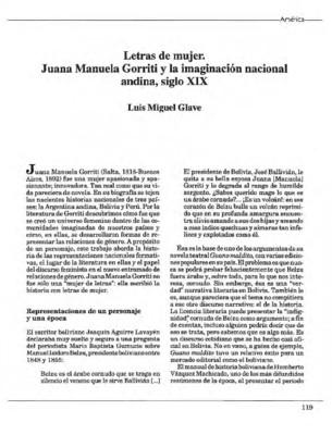 Letras de mujer. Juana Manuela Gorriti y la imaginación nacional andina, siglo XIX