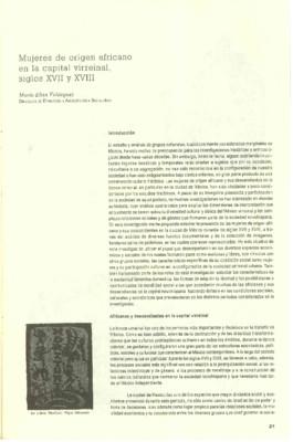 Mujeres de origen africano en la capital virreinal, siglos XVII y XVIII