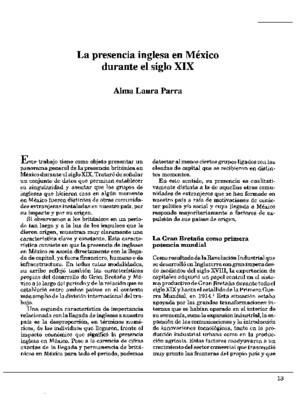 La presencia inglesa en México durante el siglo XIX