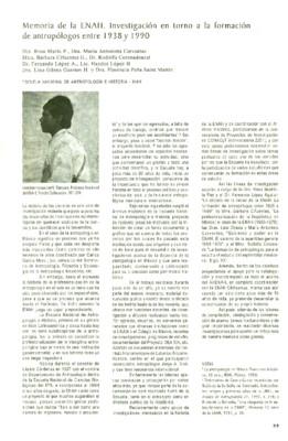 Memoria de la ENAH. Investigación en torno a la formación de antropólogos entre 1938 y1990