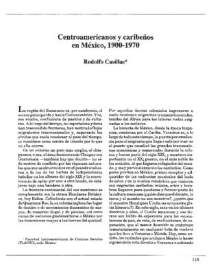 Centroamericanos y caribeños en México, 1900-1970