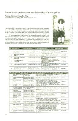 Formación de profesionales para la investigación etnográfica