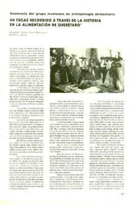 Un fugaz recorrido a través de la historia en la alimentación de Querétaro