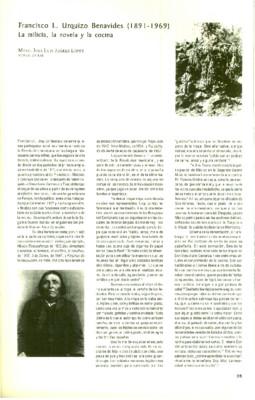 Francisco L. Urquizo Benavides (1891 - 1969) La milicia, la novela y la cocina