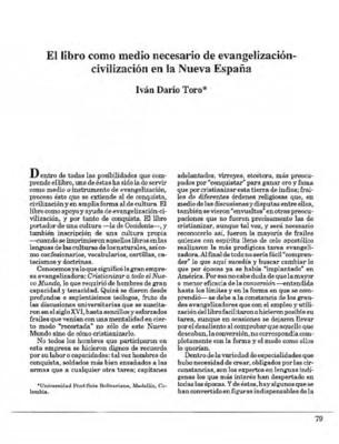 El libro como medio necesario de evangelización-civilización en la Nueva España