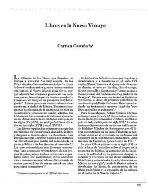 Libros en la Nueva Vizcaya