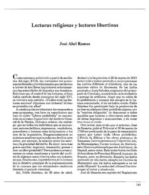 Lecturas religiosas y lectores libertinos