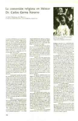 La conversión religiosa en México. Dr. Carlos Garma Navarro