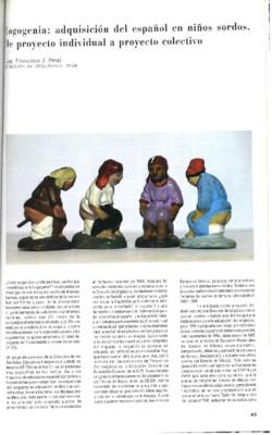 Logogenia: adquisición del español en niños sordos. De proyecto individual a proyecto colectivo