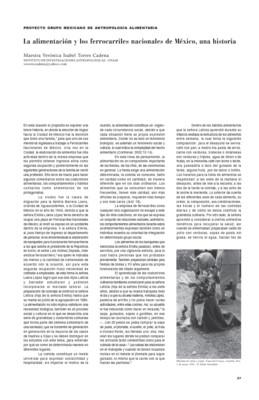 La alimentación y los ferrocarriles nacionales de México, una historia