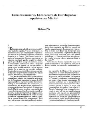 Crónicas menores. El encuentro de los refugiados españoles con México