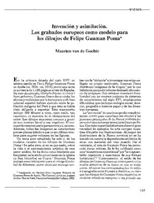 Invención y asimilación. Los grabados europeos como modelo para los dibujos de Felipe Guaman Poma