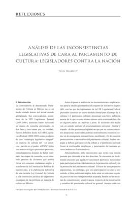 Análisis de las inconsistencias legislativas de cara al parlamento de cultura: Legisladores contra la nación