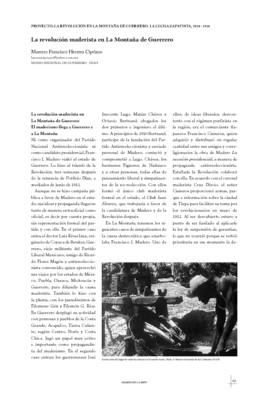 La revolución maderista en La Montaña de Guerrero