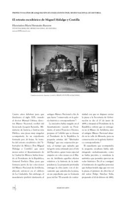 El retrato escultórico de Miguel Hidalgo y Costilla