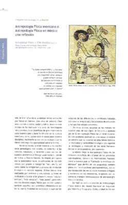 Antropología Física mexicana o Antropología Física en México: una reflexión