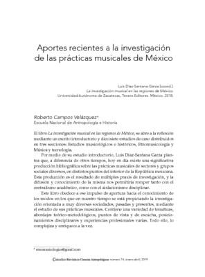 Aportes recientes a la investigación de las prácticas musicales de México