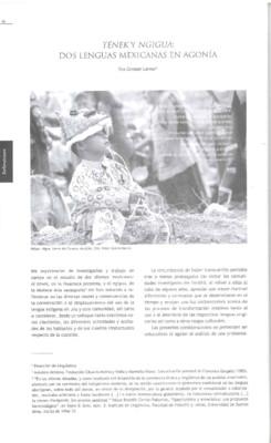 Tének y Ngigua: Dos lenguas mexicanas en agonía