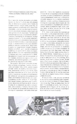 """Primer Coloquio-Homenaje Jaime Litvak King """"Todas las piedras tienen dos mil años"""""""