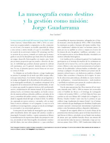 La museografía como destino y la gestión como misión: Jorge Guadarrama