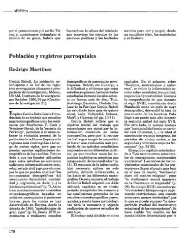 Población y registros parroquiales