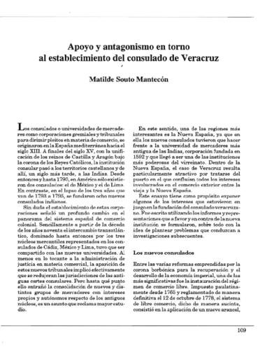 Apoyo y antagonismo en torno al establecimiento del consulado de Veracruz