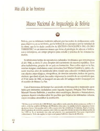 Museo Nacional de Arqueología de Bolivia