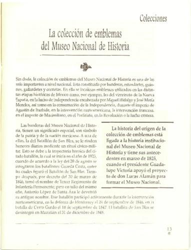 La colección de emblemas del Museo Nacional de Historia