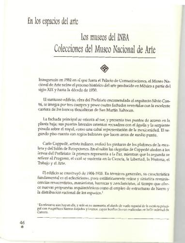 Los museos del INBA Colecciones del Museo Nacional de Arte