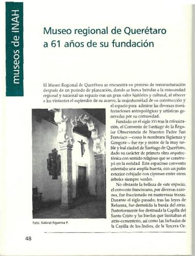Museo Regional de Querétaro a 61 años de su fundación