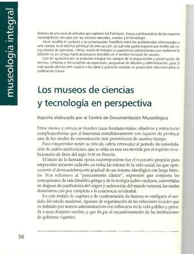 Los museos de ciencias y tecnología en perspectiva