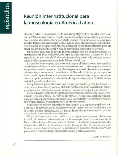 Reunión interinstitucional para la museología en América Latina