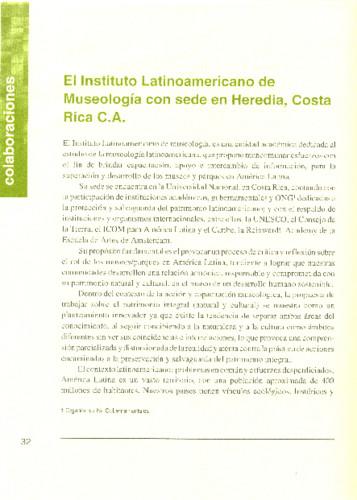 El Instituto Latinoamericano de Museología con sede en Heredia, Costa Rica c.A.