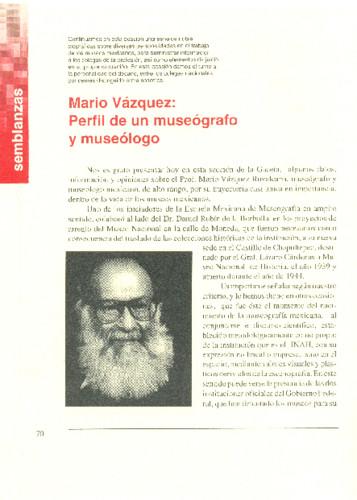 Mario Vázquez: Perfil de un museógrafo y museólogo