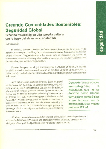 Creando Comunidades Sostenibles: Seguridad Global