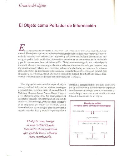 El Objeto como Portador de Información