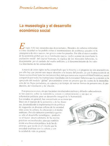 La museología y el desarrollo económico social