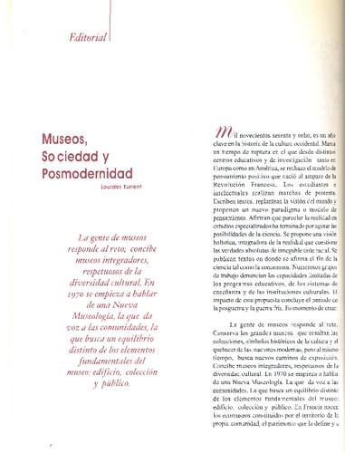 Museos, Sociedad y Posmodernidad
