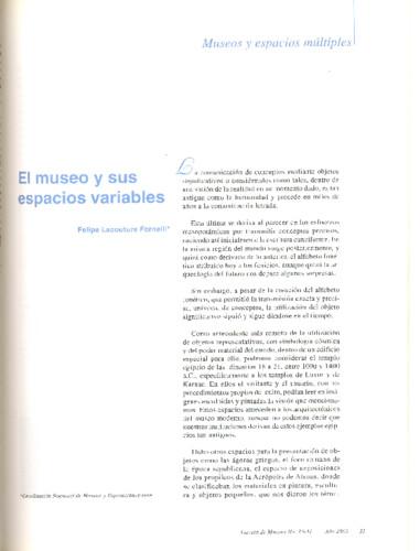 El museo y sus variables