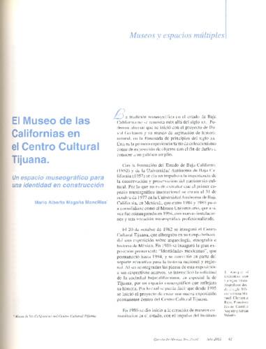 El Museo de las Californias en el centro Cultural Tijuana