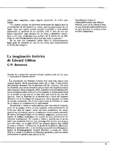 La imaginación histórica de Edward Gibbon