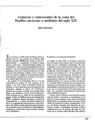Comercio y comerciantes de la Costa del Pacífico mexicano a mediados del siglo XIX