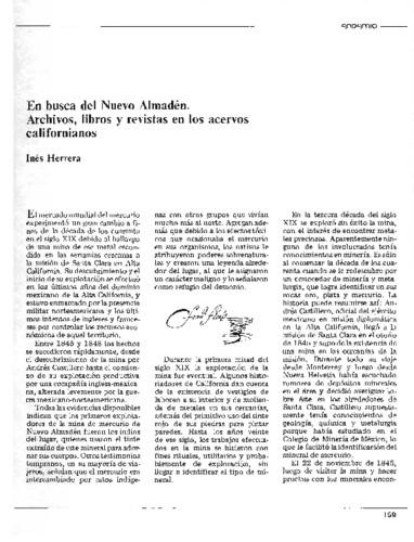 En busca del Nuevo Almadén. Archivos, libros y revistas en los acervos californianos