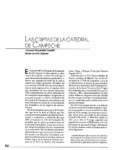 Las criptas de la catedral de Campeche
