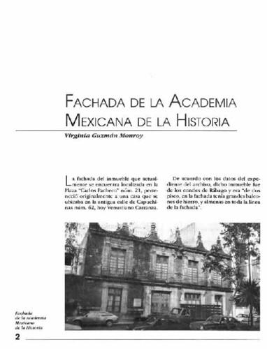 Fachada de la Academia Mexicana de la Historia