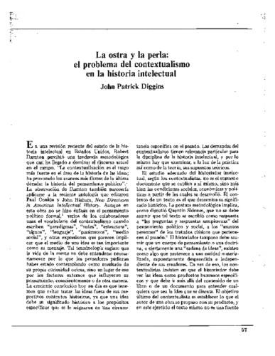 La ostra y la perla: el problema del contextualismo en la historia intelectual